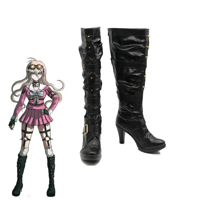 198fead5d2 US $51.06 26% OFF|Danganronpa V3 Killing Harmony Iruma Miu Rabbit Cosplay  Rivet Boots Shoes Cosplay Costume Black-in Shoes from Novelty & Special Use  ...
