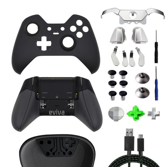 Game Accessories For XBOX ONE Elite Controller Front Cover Back Housing  Shell Case LB RB Bumper Grip Buttons LT RT Trigger