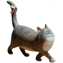 Creative Personality Cat Small Ornaments Living Room Bookcase Decorations Desktop Decor Birthday Gifts Potted Plants Display(China)