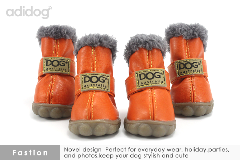 Pet Dog Shoes Winter Super Warm 4pcs set Dogs Boots Cotton Anti Slip XS 2XL Shoes for Small Pet Product ChiHuaHua Waterproof 301