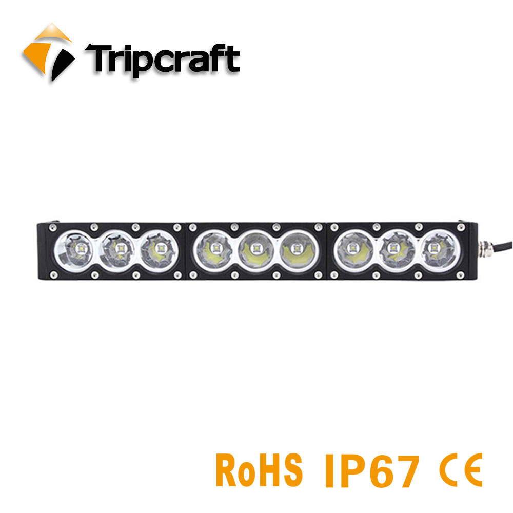 TRIPCRAFT 90W Led Light Bar Single Row Headlight 12V 24V Spot Combo Amber White for Car 4x4 Offroad SUV UAZ Working Fog Lights tripcraft 4 6inch 40w led work light bar spot flood combo beam for offroad boat truck 4x4 atv uaz 4wd car fog lamp 12v 24v ramp