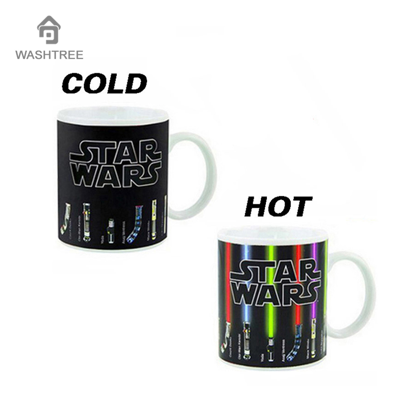 Star Wars Coffee Mug Personalized Color Change Mug Porcelain Star Wars Lightsaber Ceramic Dragon Ball Series Mug
