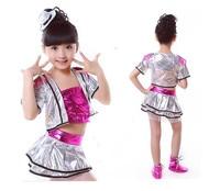 Yeni Kız Pullu Modern Dans Kostümleri çocuklar için Sihirli Master Caz Dans Kostümleri Çin Dancewear için Gösterir