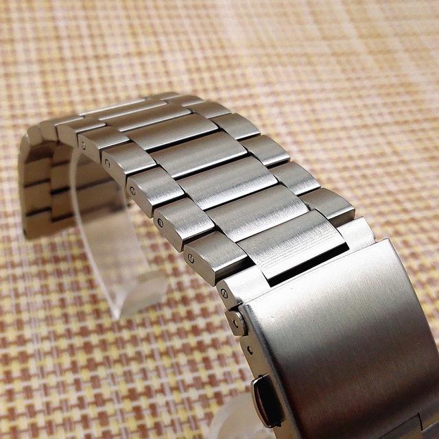 1 PCS 23mm Alta qualidade Relógio do Aço Inoxidável bandas pulseiras de Relógio para relógio chama parts-0134WB Fitbit