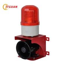 Купить с кэшбэком TGSG-110 small audible and visual alarm DC12V/24V,AC220V with siren tone 110dB