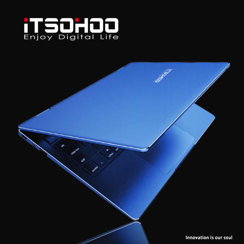 14 インチの windows 10 ノートパソコンの金属ノートブックコンピュータ赤、青の色 8 ギガバイトの RAM インテルゲーミングノート pc iTSOHOO クアッドコアアポロ ultrabook