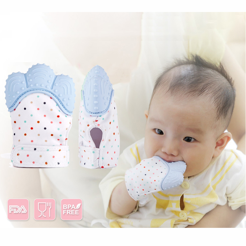 1pcs Silicone Teether Baby Pacifier Glove Baby Teething Chewable Newborn Nursing Mittens Teether Beads Infant BPA Free Pastel