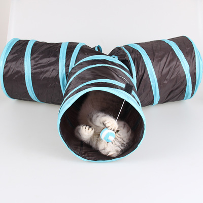 3 Way Tunnel Cave Cat Toys Y Shape Foldable Pet Animal Plaything Cat Kitten Play Toy Cat Paper Indoor Outdoor Exercise Supplies