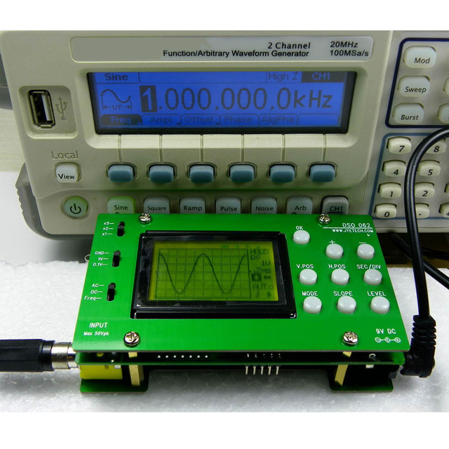 Best Offers Electronic 2016 New Mini LCD Digital Oscilloscope DIY Kit DSO062 1M Banwidth 2Msps Real-time Sampling Rate Oscilloscopio
