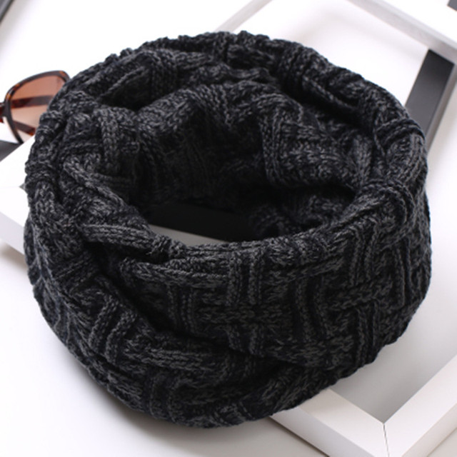 Unisex Knitted Scarf Lic Korean Winter Scarves Plaid Snud For Women