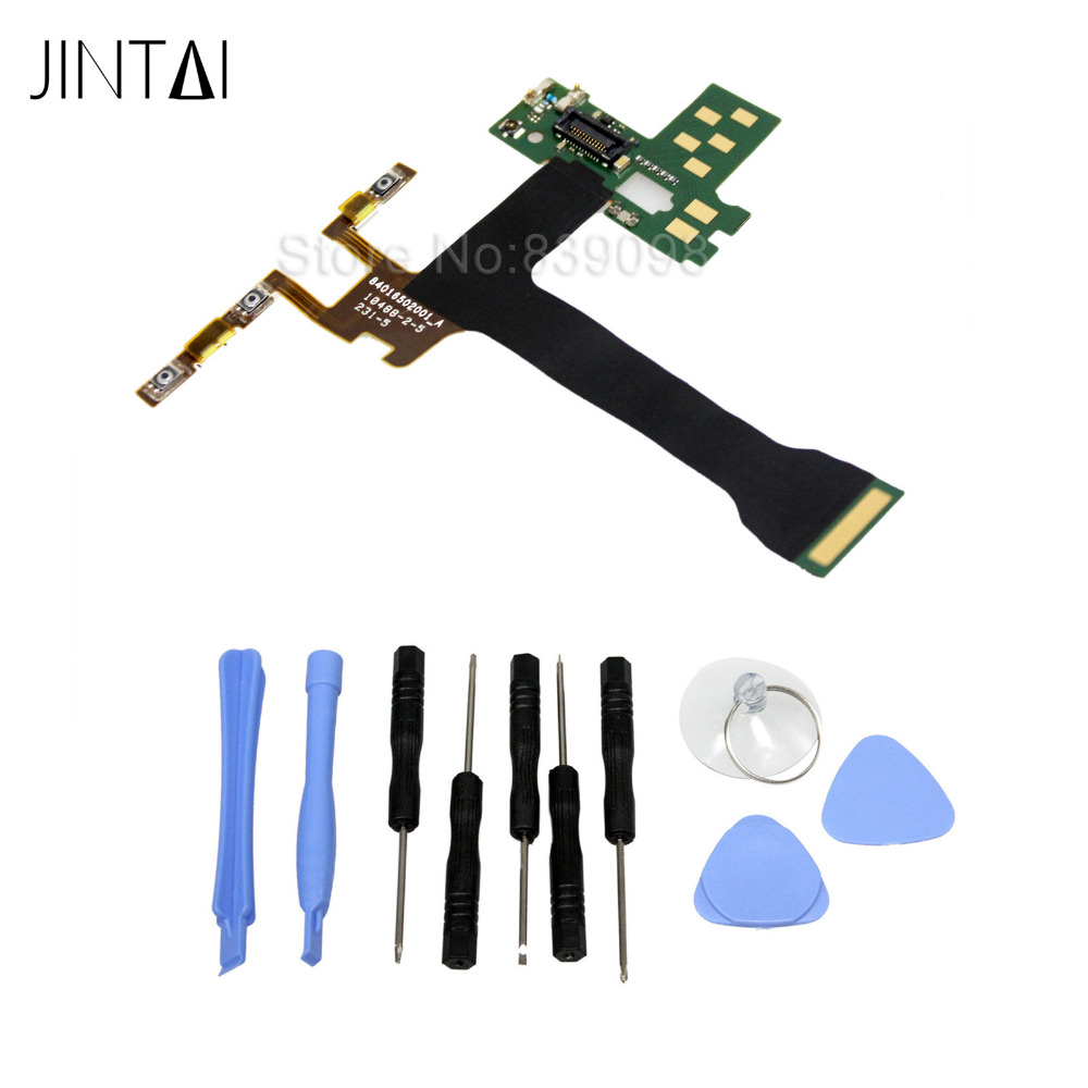 100%  new Jintai Power Button Volume Button Flex Cable For Motorola Droid Turbo 2 XT1585 jintai new usb charging connect microphone flex cable board for lenovo k920 vibe z2 pro 6