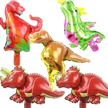 wholesale 50pcs/lot 16inch Mini dinosaur balloon Cartoon Amnimal Birthday baby Party Decoration New Year Wedding Children Gift