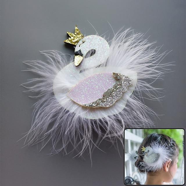 295120dae € 1.3 41% de DESCUENTO 1 piezas nueva tridimensional cisne blanco bebé  princesa Barrette cabritos Clips de pelo niños Headwear accesorios del pelo  ...