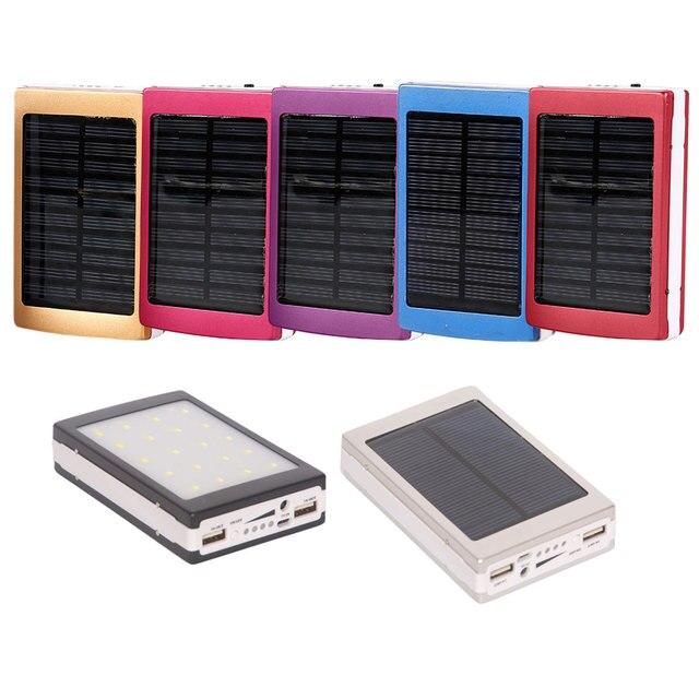New Kép USB PCBA Circuit Board Điện Năng Lượng Mặt Trời Bảng Điều Khiển Năng Lượng Mặt Trời Nhà Bảng Điều Chỉnh Ngân Hàng 18650 Pin Cầm Tay Phụ Trách với LED Giả ánh sáng