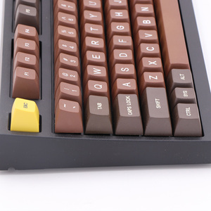 Image 3 - Chocolate SA profile r1 r2 r3 Etched Laser Coloring fonts PBT keycap For Wired USB mechanical keyboard Cherry MX switch keycaps
