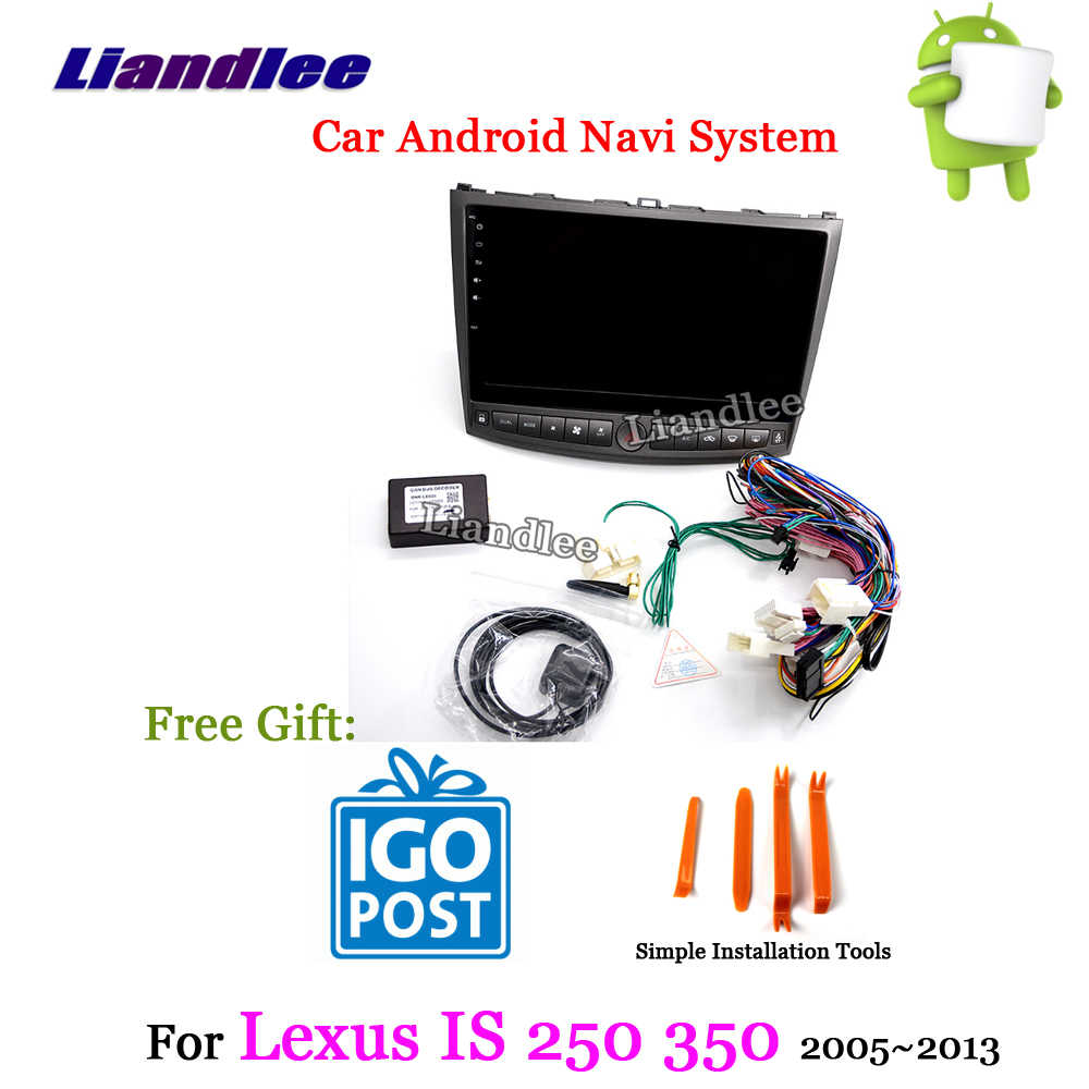hight resolution of liandlee car android system for lexus is 200 220 250 300 350 2005 2013 radio
