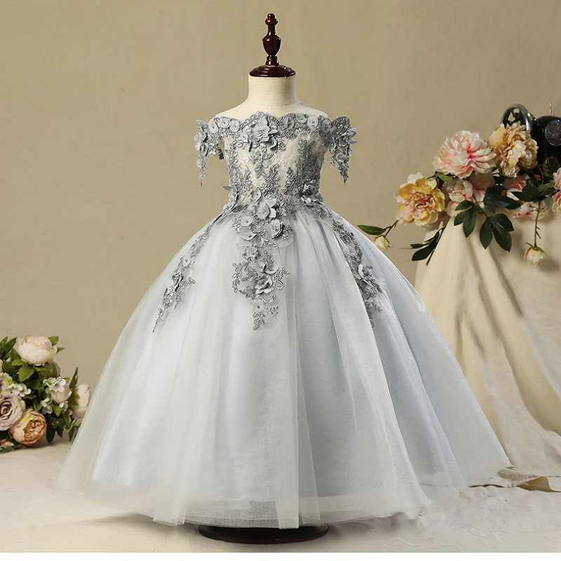 2d09d290a62 ... New Year Clothes Red Fashion Lace Girl Dress with White Embroidery  Flower and Lace Wedding Party ...