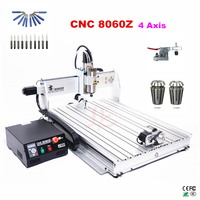 USB port mini cnc 8060 2200W spindle metal drilling and cutting machine 4 axis wood router