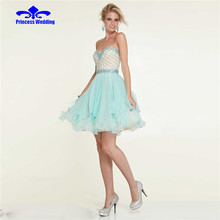 vestido de festa sweetheart a line girl short prom dresses Above Knee Mini dress for graduation african dress Party gowns