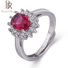 Bague Ringen Fashion Created Ruby Rings 100% Real 925 Sterling Silver Jewelry For Women Charms Party Accessories