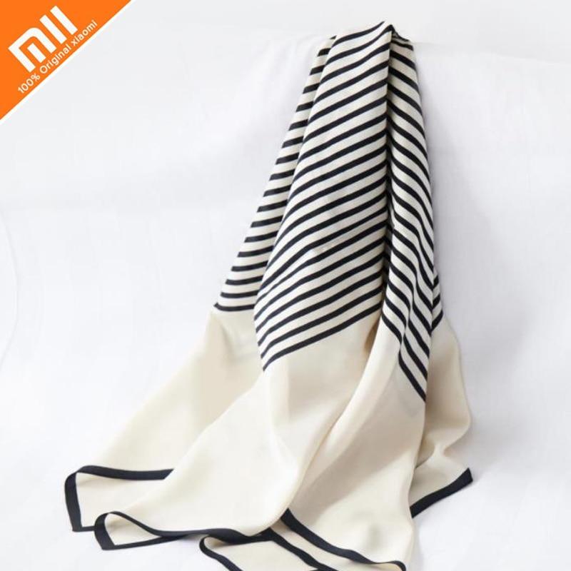 Original xiaomi instant me100% silk geometric print square scarf ladies headscarf shawl 90 * 90cm winter ladies shawl ladies bag 2018 women scarf muslim hijab scarf chiffon hijab plain silk shawl scarveshead wrap muslim head scarf hijab