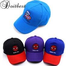Doitbest curva ala niño gorra de béisbol Hip Hop Capitán América spiderman niños  sombrero para el sol de primavera niños niñas g. e7de3ca55fa