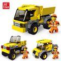 JIE-STAR Carro de la Ingeniería 3 Tipos Deformaciones Ciudad BlocksToys de Construcción para Niños Bloques Educativos 21009