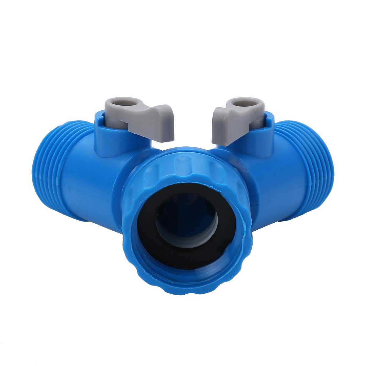 2 Way Garden Hose Splitter Tap Connector Y Adaptor Two Outlet Connection