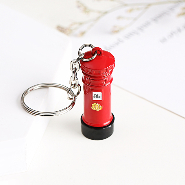 London Red&Blue Bus Key organizer Mail Box Key Holder Key Pendant Keychain Souvenir Gifts For Men Key chain Key Ring keyring 5