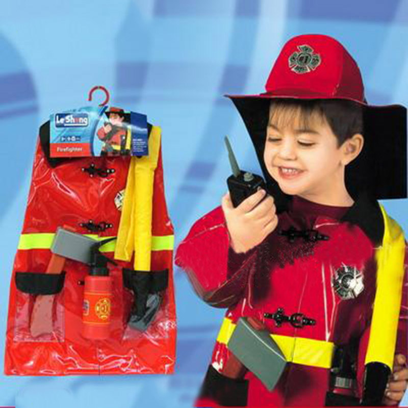 Top Sale Cosplay Fireman Costume For Kids Sam Firefighter Policeman Engineer Costumes Halloween Christmas Party Wear Clothes Toy