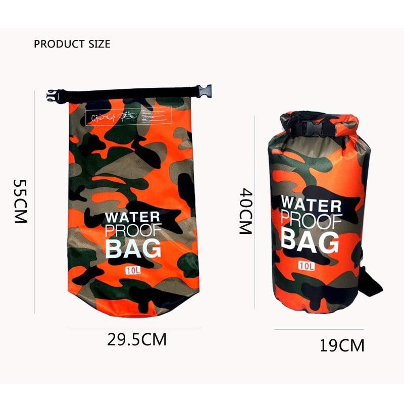 Penyamaran luar Rafting mudah alih Menyelam Beg kering beg PVC kalis - Beg sukan - Foto 4