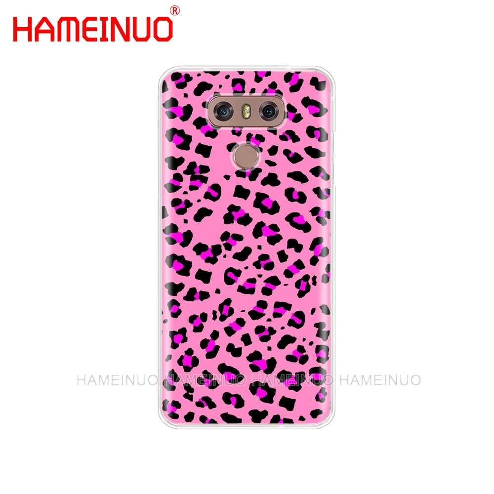HAMEINUO Тигр Леопардовый принт пантера Фото чехол для телефона LG G7 Q6 G6 MINI G5 K10 K4 K8 2017 2016 X POWER 2 V20 V30 2018
