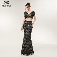 b552b8c31b8bc Black Graduation Dresses Long Promotion-Shop for Promotional Black ...