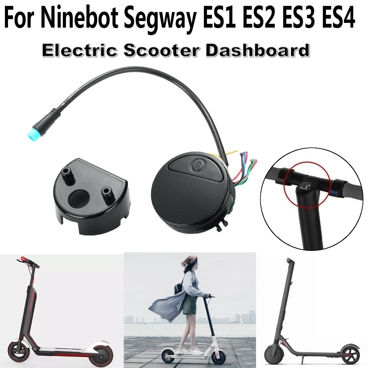 Electric Scooter Circuit Board Dashboard Cover For Xiaomi M365 Electric Skateboard For Ninebot Segway ES1 ES2 ES3 ES4 Switch