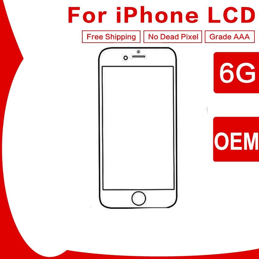 10 PCS 100% Testé OEM LCD Pour iPhone 6 LCD Affichage à L'écran Tactile Digitizer Assemblée Remplacement Livraison Gratuite DHL