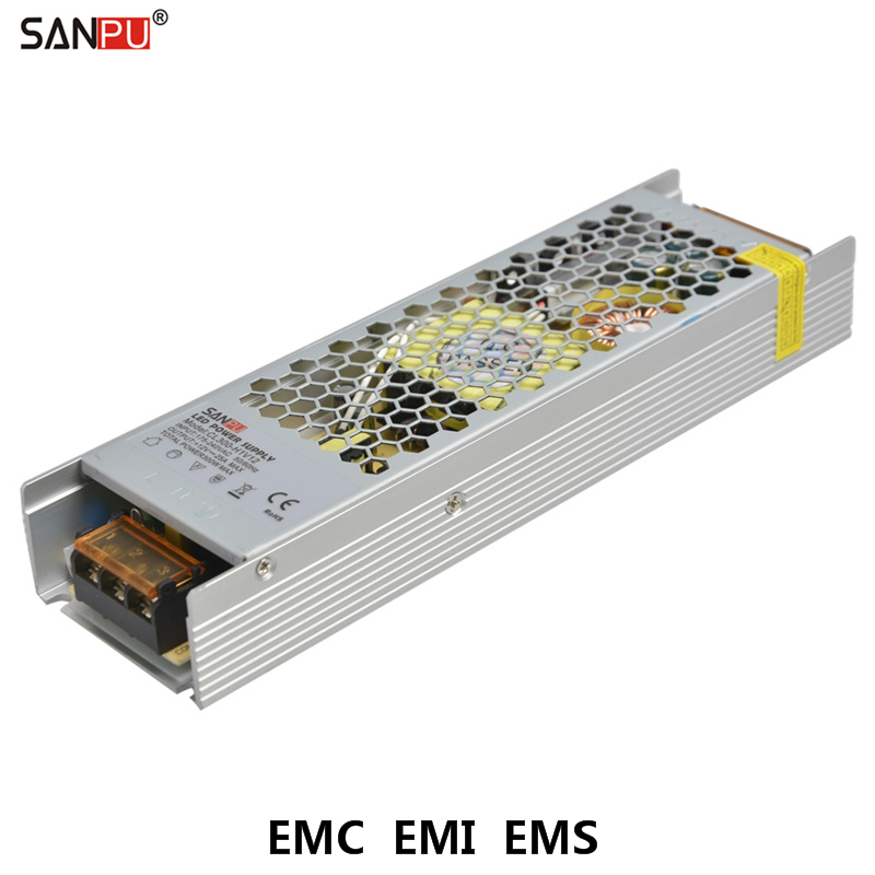 SANPU EMC Universal Power Supply Unit 12V Source 300W 25A Low Noise 220V 230V AC to DC 12 V Transformer Fanless for 3D Printer