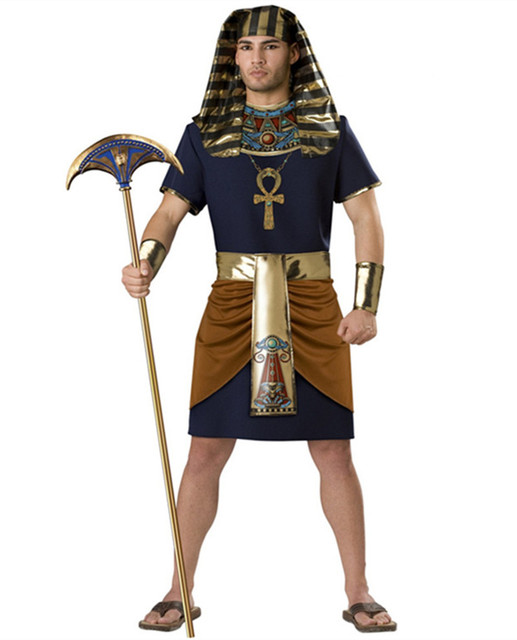 Costumi Halloween Adulti.Us 28 89 Faraone Egiziano Costumi Halloween Party Adulti Abbigliamento Faraone Egiziano Re Uomini Costume Per Halloween Cleopatra In Faraone
