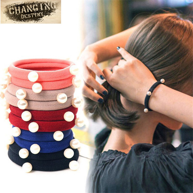 10 Pcs / Lot Girl Headdress Clothing Accessories High Elastic Rubber Band Woman Hair with Headwear