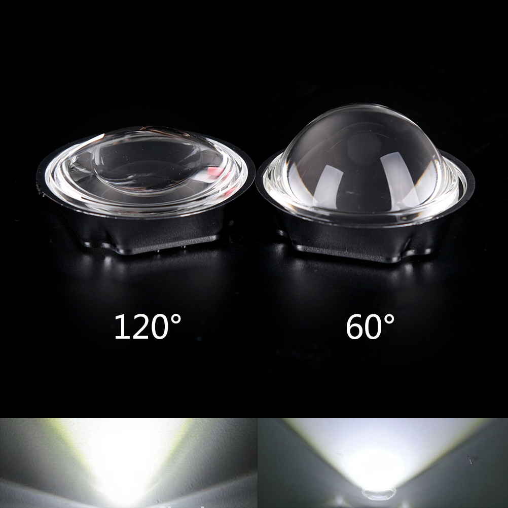44mm Optical Glass LED Lens 60/120 Degree + 50mm Reflector Collimator + Fixed Bracket For 20-100W COB High Power Chip