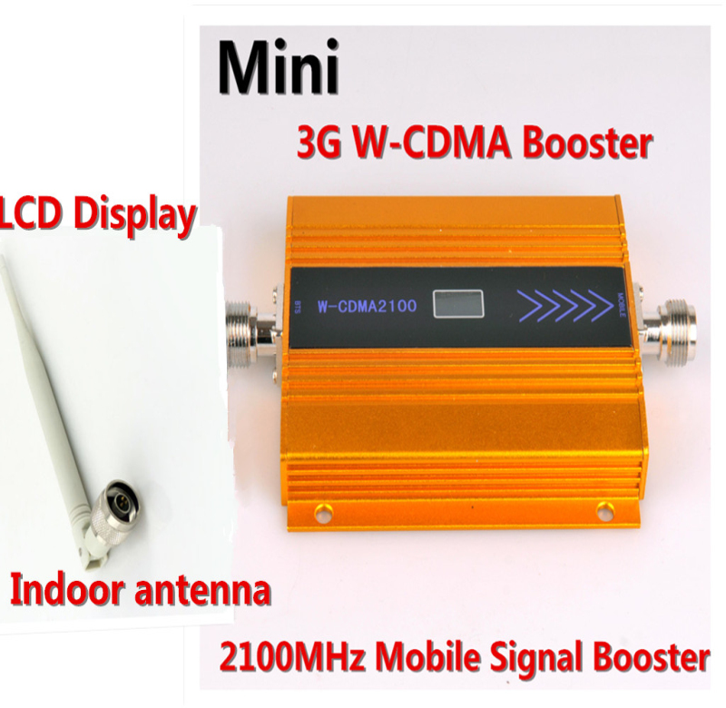 High Quality LCD Display Cellphone 3G Repeater Mobile Phone W-cdma 2100mhz UMTS Booster Signal Amplifier With Antenna