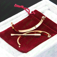 Free Shipping Titanium Steel Couple Jewelry Logo Carter Love Bracelets Bangles Women Men Bracelet Bijoux Femme