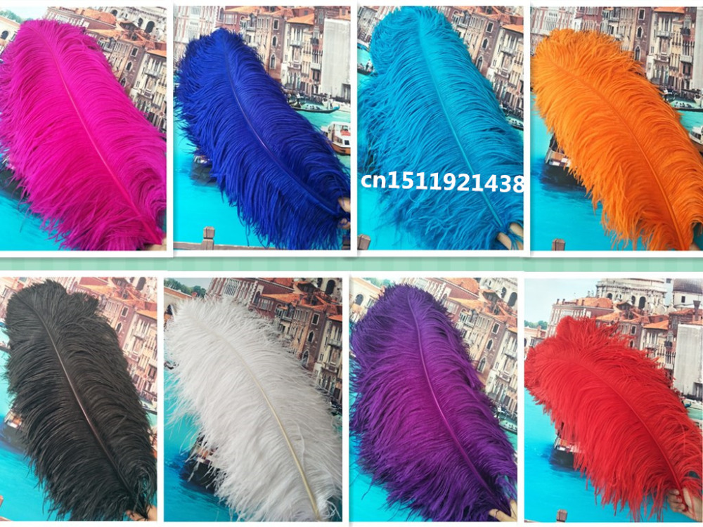 Free EMS shipping 50pcs natural ostrich feathers 70-75CM/28