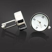 Biały Zegarek Luksusowe Spinki Do Mankietów Spinki Do Mankietów Day'S Ojca Prezent