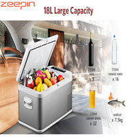 Портативный 18L холодильник DC 24 V 12 V автомобильный холодильник 20 Deg. C морозильник автомобильный холодильник Компрессор AC 100 240 V для дома автом
