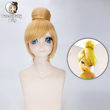 цена на Anime Short Blonde Cosplay Wig 30cm Fairy Tinker Bell Full Hair Wigs For Women Princess Tinkerbell Adult Size Synthetic Hair