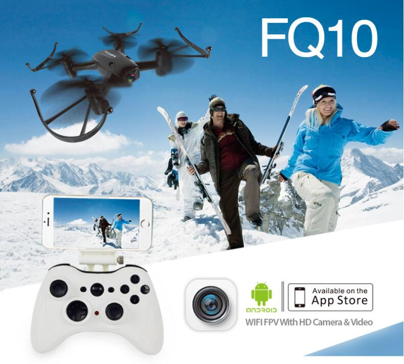 Remote control helicopter FQ-10 Wifi FPV With 720P Wide Angle HD Camera 2.4G 4CH 6Axis selfilE RC Quadcopter Drone RTF vs XS809 yc folding mini rc drone fpv wifi 500w hd camera remote control kids toys quadcopter helicopter aircraft toy kid air plane gift