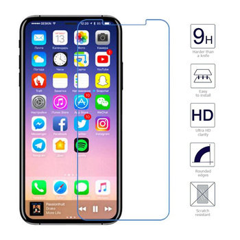 10 Pcs/Lot 2.5D 0.26mm 9H Premium Tempered Glass For Apple iPhone X Screen Protector Film Anti-Shock Scratch Clear Transparent