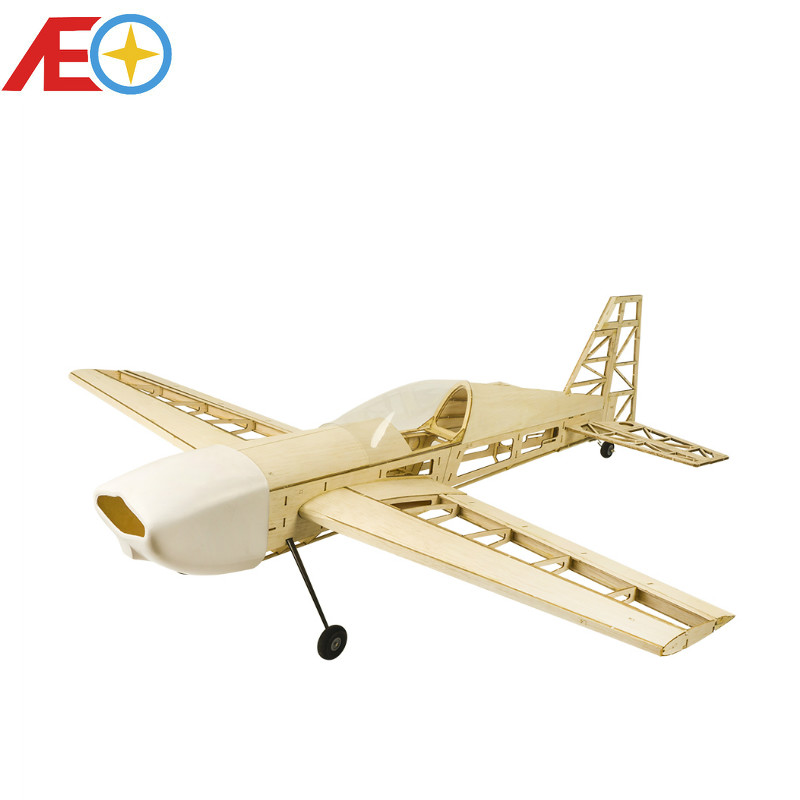 New Version EX330 1000mm Laser Cut Balsa Kit Balsawood 3D Airplane Model Building (Gas Power Electric Power) WOOD PLANE RC image
