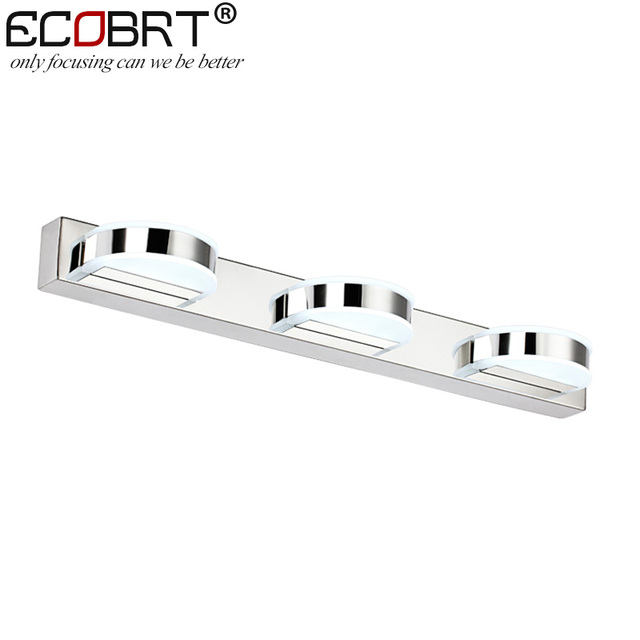 ECOBRT Featured LED Wall Lamps 4W 8W 12W  in Bathroom Round Indoor Lighting Fixture Stainless Steel 110V / 220V