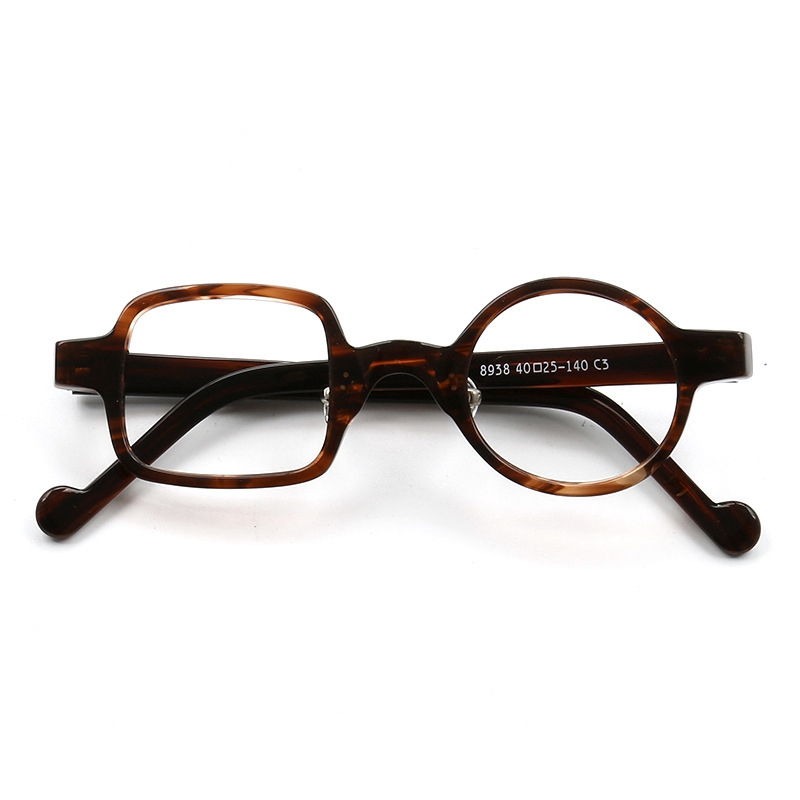 Handmade Acetate Glasses Frame Man Women Fashion Trendy Square round Optical male Spectacles Top Quality Z8938